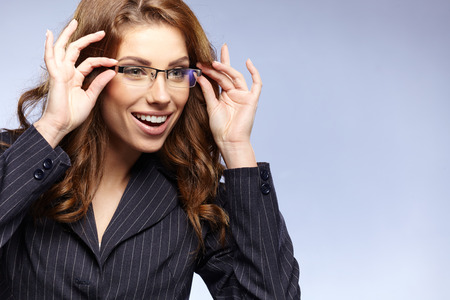 Beautiful Woman Wearing Glasses  photo