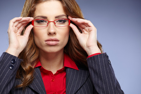 business woman in glasses  photo