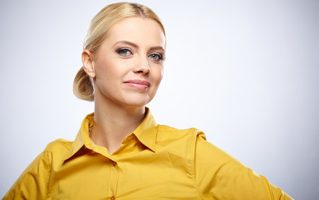 Business woman portrait . Crossed arms .  photo