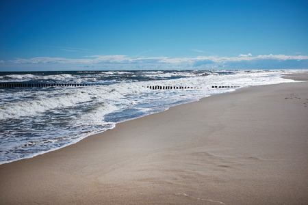 deserted: Coast of the Baltic Sea in spring Stock Photo