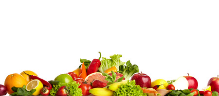 assortment: Fruit and vegetable borders  Stock Photo