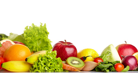 edibles: Fruit and vegetable borders  Stock Photo