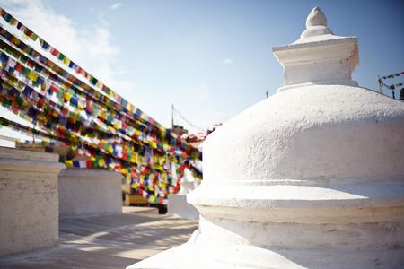 kathmandu: Nepal, Kathmandu, Boudda, buddhist temple Stock Photo