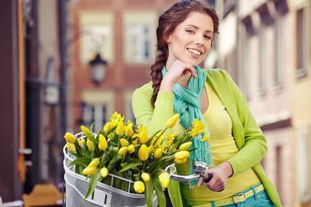 Fashion style photo of a spring  women Stock Photo - 27586331