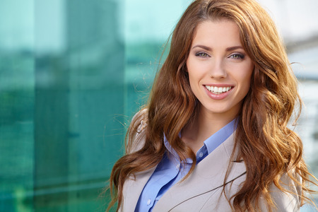 trade show: Attractive Real Estate Agent Woman