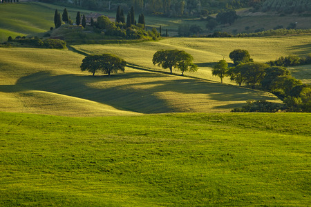 Spring Tuscany hills and meadows in Italy photo