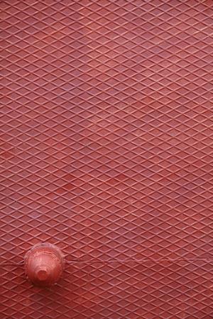 Vintage  looking grunge red steel plate useful as background  photo