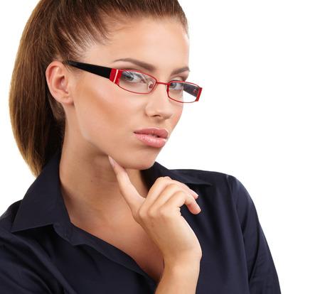 eyewear: business woman in glasses