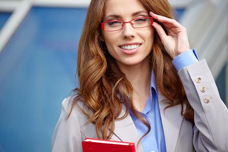 conceptual cute: Attractive Real Estate Agent Woman