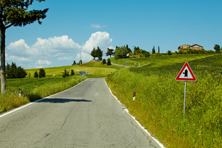 Country road in Tuscany, Italy  photo