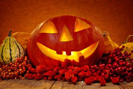 carved pumpkin: Halloween pumpkin Stock Photo
