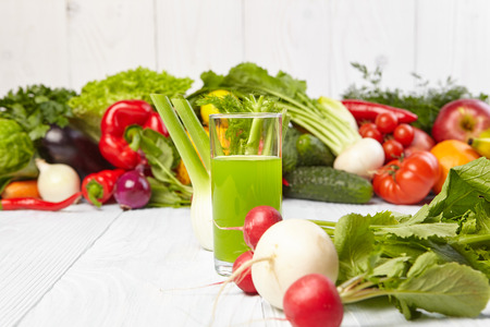 rainbow cocktail: Various Freshly Vegetable Juices for Detox