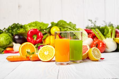 Various Freshly Vegetable Juices for Detox photo