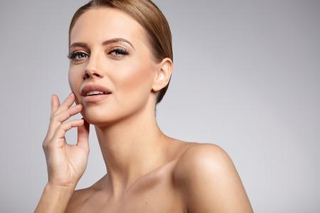 fresh women: Natural Beauty Portrait. Beautiful Spa Woman . Perfect Fresh Skin.