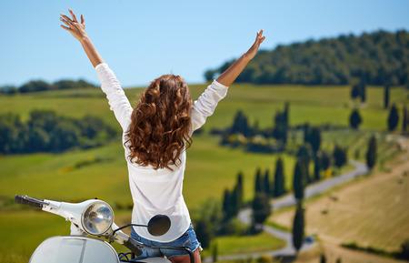 Happy day in Tuscany Stock Photo