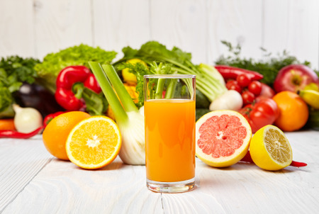 antioxidant: healthy vegetable juices for refreshment and as an antioxidant Stock Photo