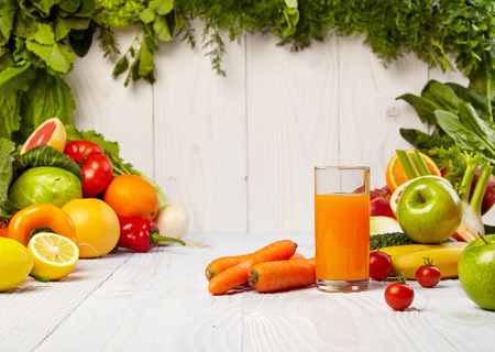 healthy vegetable juices for refreshment and as an antioxidant Stock Photo