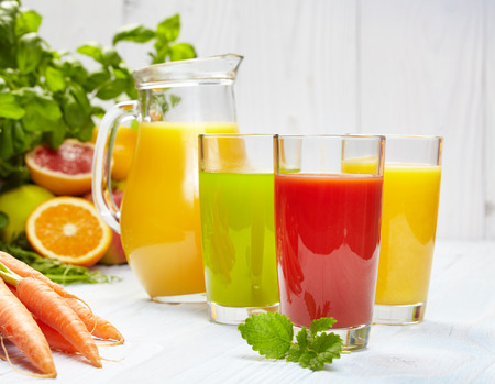 Healthy juices spring Stock Photo