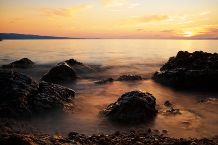 adriatic sea: Sunset on adriatic sea