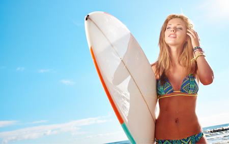 Surfer girl photo