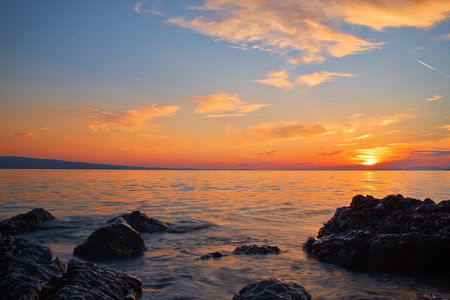 Sunset on adriatic sea photo