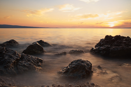 Sunset on adriatic sea photo