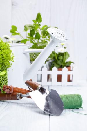abode: gardening tools Stock Photo