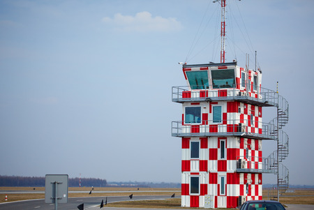 control tower: air traffic control tower