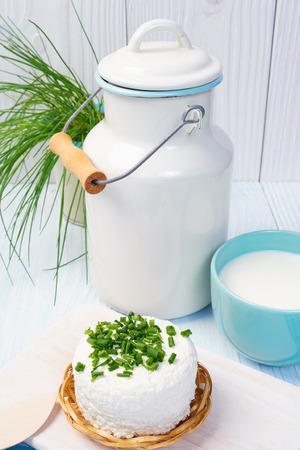 sour clover: mug with milk on vintage table