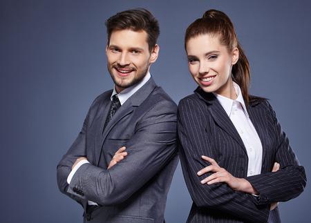 Portret van mensen uit het bedrijfsleven Stockfoto