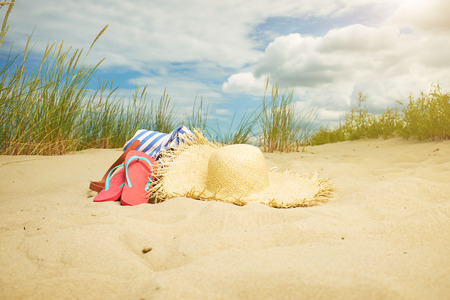 sandy feet: Beach scene,  summer accessories, Summer concept
