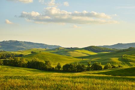 krajina: Toskánsko kopce Reklamní fotografie