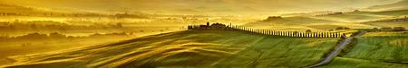 HI res mega pixel  Tuscany hills panorama