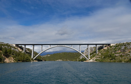 croatia: Krka bridge in Croatia
