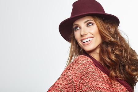 mooie vrouwen: Herfst vrouw portret Stockfoto