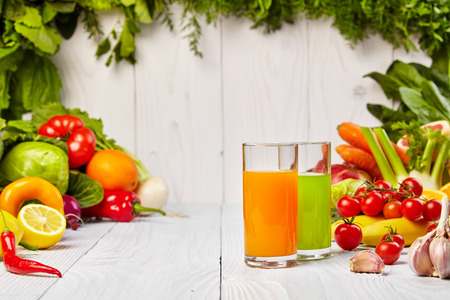 cleanse: Various Freshly Vegetable Juices for Detox