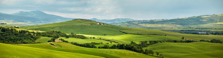 on the hill: Panoramic view hills of Tuscany Italy