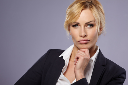 business contact: businesswoman portrait Stock Photo