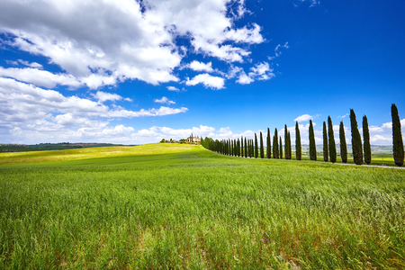 val dorcia: Landscape of Val dOrcia province. Tuscany, Italy.