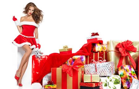 sexy: sexy girl wearing santa claus clothes