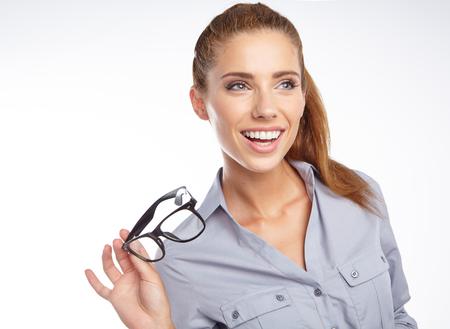 anteojos: Mujer de negocios en copas