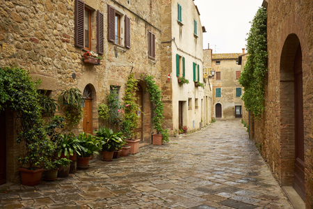 italy street: traditional pictorial streets of old italian villages