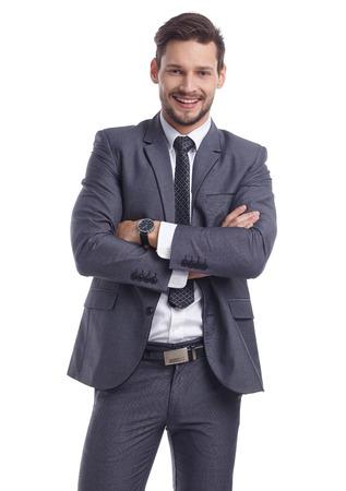 bonhomme blanc: homme d'affaires en costume