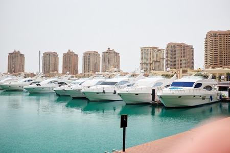 qatar: Qatar yacht marina view - the pearl