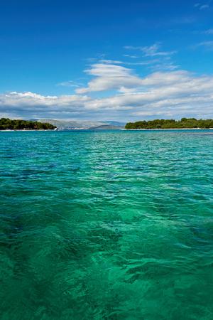 paradise bay: crystal clear water of Adriatic sea in Brela on Makarska Riviera, Dalmatia, Croatia