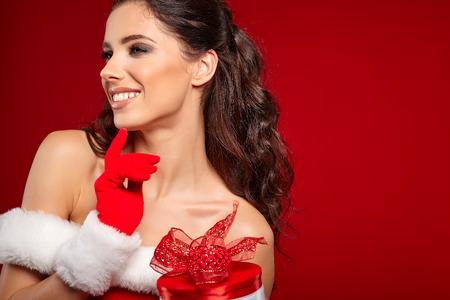 christmas woman: christmas woman