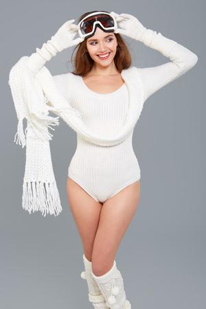 winter woman: WInter woman in body sweater .