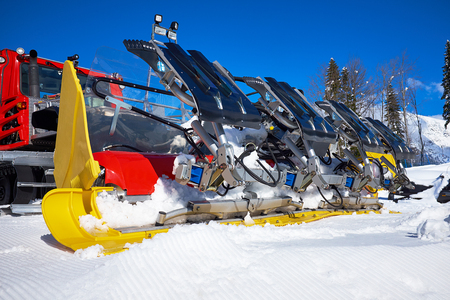 slope: Machine for skiing slope preparations