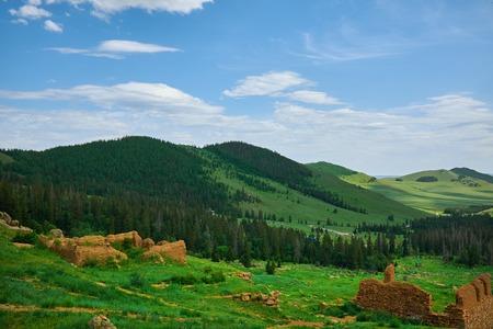 mountain landscape: Green Mountain Landscape in Mongolia
