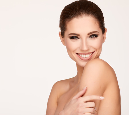 Natural Beauty Portrait. Beautiful Spa Woman . Perfect Fresh Skin
